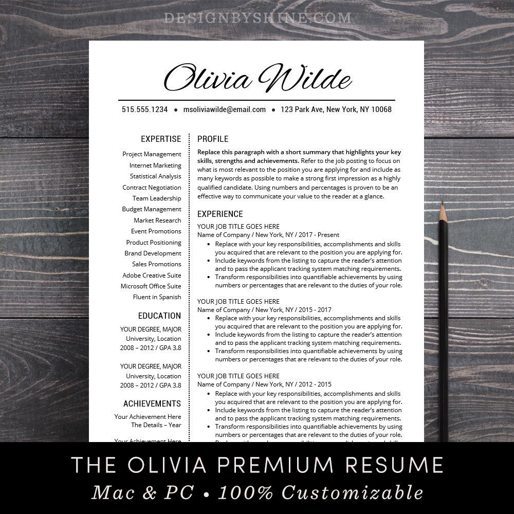 resume template creative cv template teacher resume