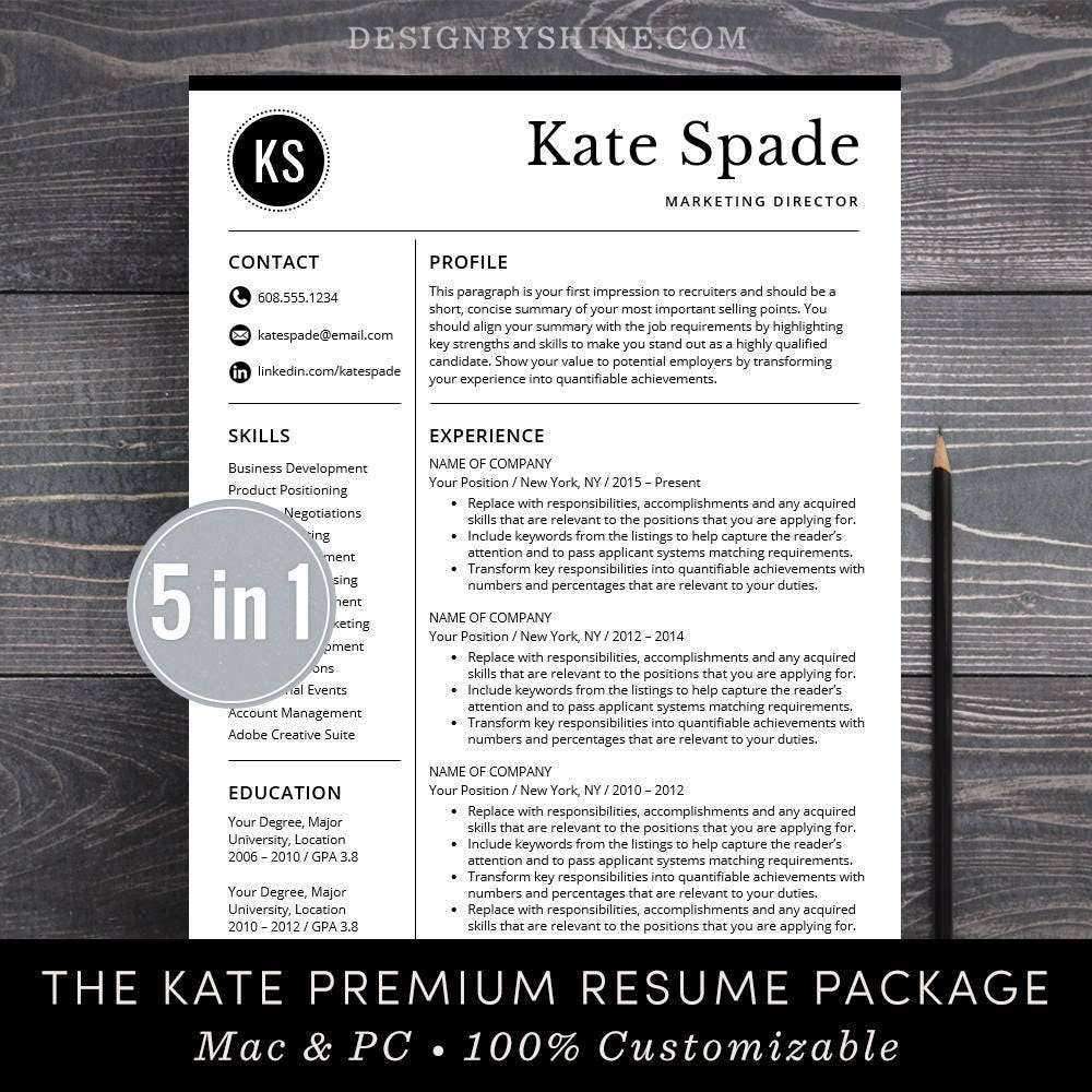 Professional Resume Template CV Free Cover Letter