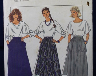 1980's Sewing Pattern for a Woman's Skirt in Size 8-10-12 - Style 4258