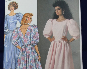 1980's Prom Dress Sewing Pattern in Size 6-8-10 - Butterick 3528