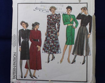 1980's Dress Sewing Pattern in Size 16 - Style 1087
