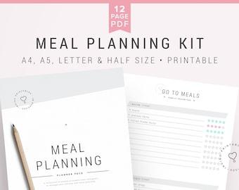 menu planner dinner planner meal planner printable meal etsy