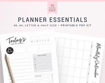 Modern Planner Pages, Modern Planner Pack, Planner Inserts, Planner, Daily Planner, Monthly Planner, Printable Planner Pages, Daily Plan
