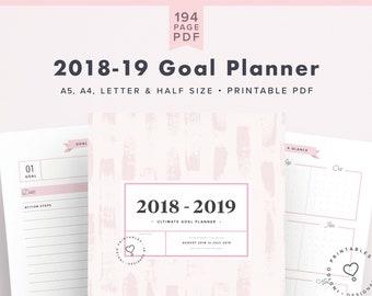 2018-2019 Planner, Mid Year Planner, Academic Planner 2018-2019, 2018/ 2019 Planner Kit, Printable, Agenda 2018-2019, Digital Planner 2018