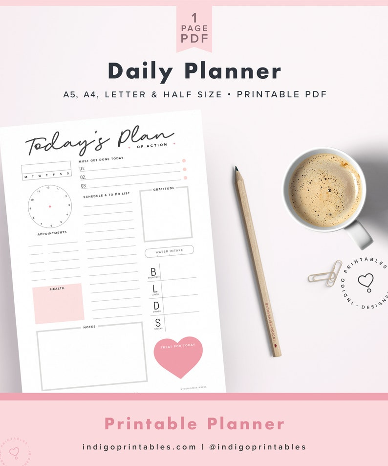 graphic relating to Day Organizer titled Day-to-day Planner Printable, Working day Organizer, A4 Each day Planner Inserts, A5 Day-to-day Planner, 8.5\