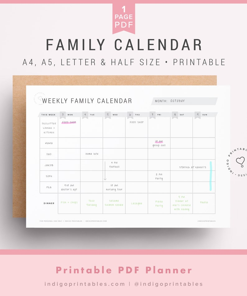photograph regarding Family Printables identify Weekly Spouse and children Calendar, Spouse and children Calendar, Weekly Calendar, Household Planner, Weekly Family members Planner, Manage Middle Printables, Weekly Routine