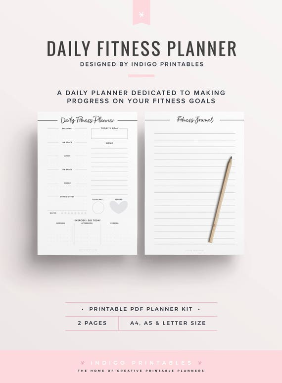 photo regarding Printable Fitness Journals referred to as Each day Health Planner, Health Printable, Exercise Magazine, Conditioning and Health Program, Well being Planner, Overall health Planner, Exercise session Planner