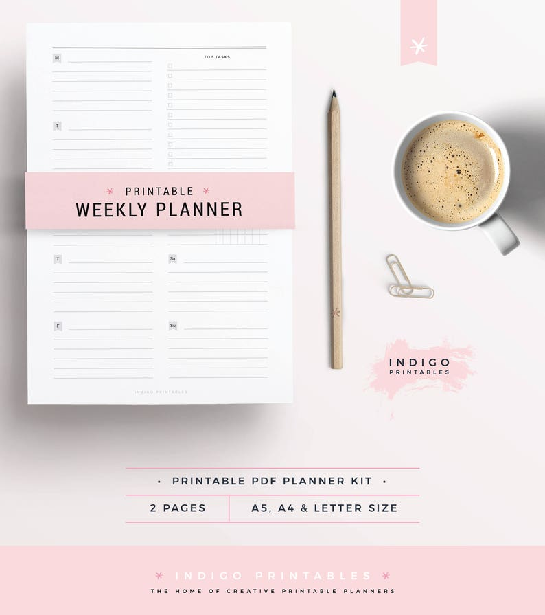 photograph relating to Printable Planners called Weekly Planner Printable, Printable Planner, Minimum amount Planner, A5 Weekly Planner, Indigo Printables, Planner Pack, Planner Webpage, Inserts