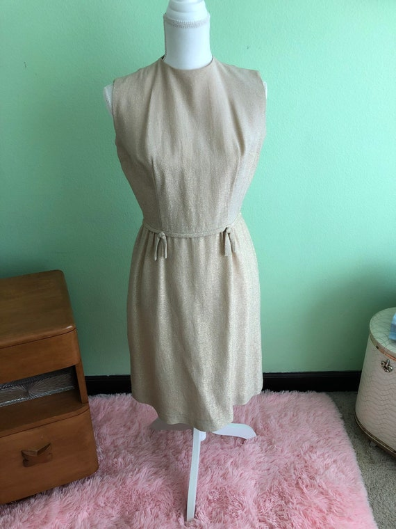 Lurex Dress 1960 size medium