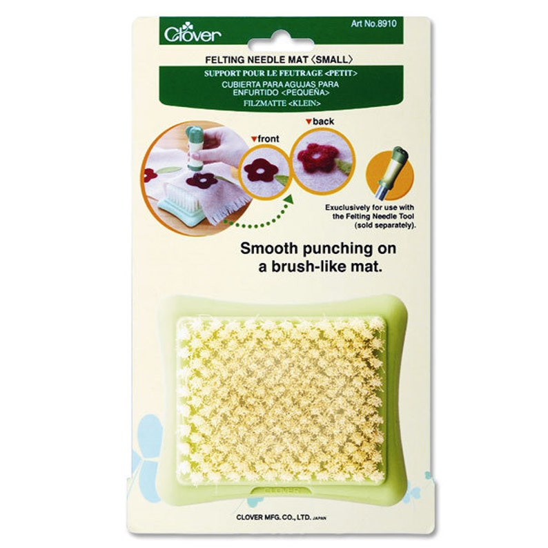 Clover Small Needle Felting Mat  Ship from USA image 0