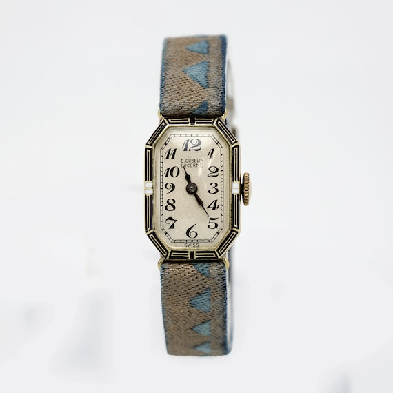 1920s Vintage 14K Gold Gubelin Ladies Watch on Cus