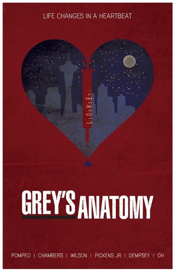 Grises anatomía Poster | Etsy