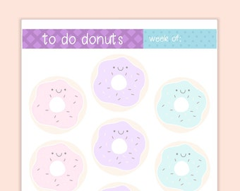 To Do Donuts - To Do List - Printable