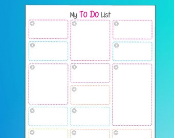 To Do List Printable Note Organizer #3