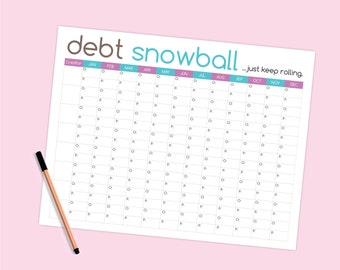 Debt Snowball Worksheet - Budget Printable