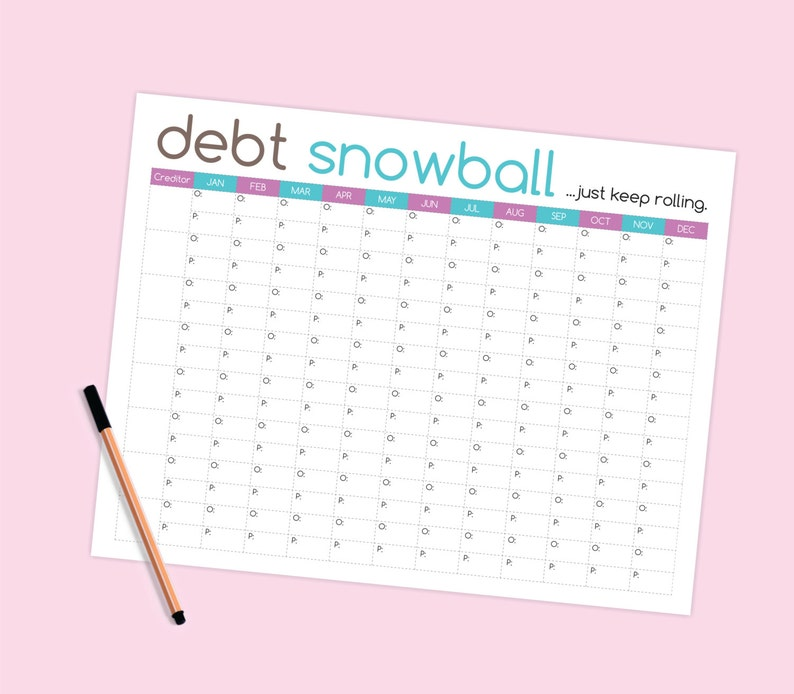 photo relating to Free Printable Debt Snowball Worksheet named Personal debt Snowball Worksheet - Spending plan Printable