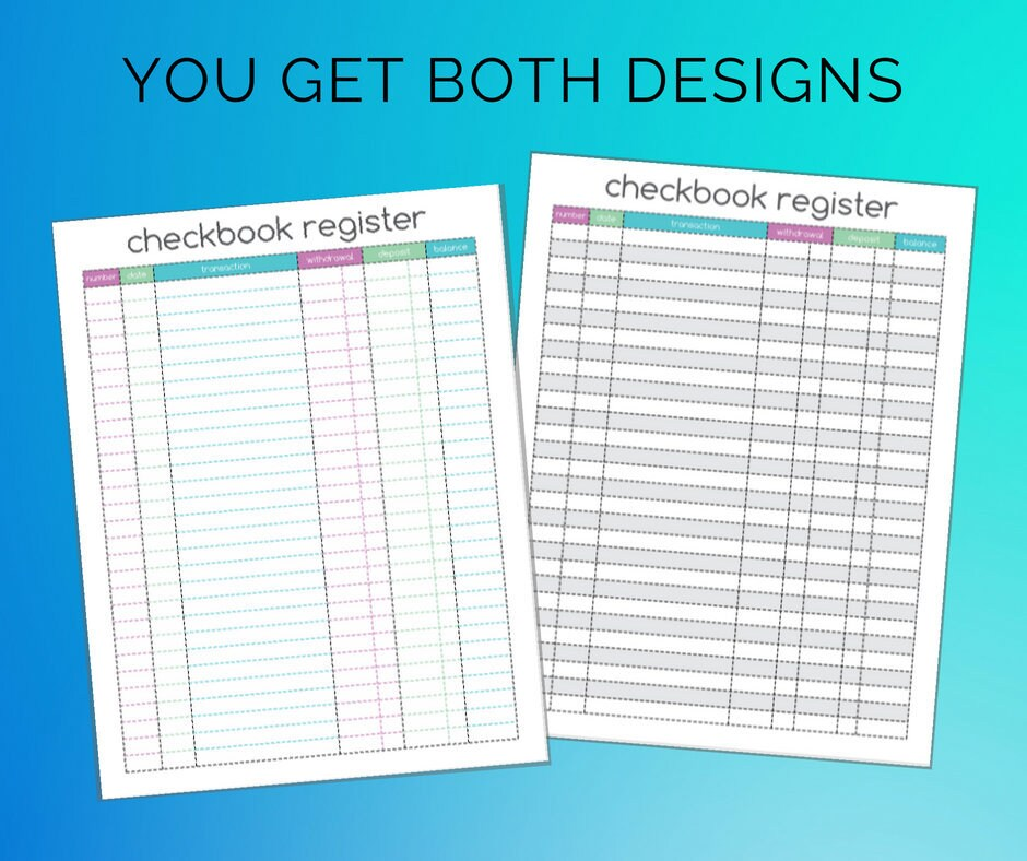 This is a graphic of Gutsy Printable Check Register Half Page