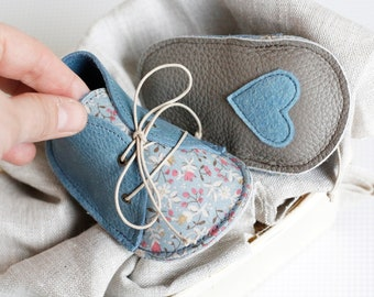 CÉCILE modern baby shoes in genuine soft leather and cotton