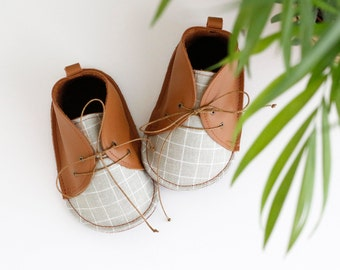 OLIVE modern baby shoes in genuine soft leather and cotton