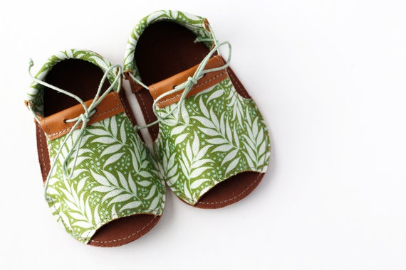 PALM LTR modern baby sandals in genuine soft leather and