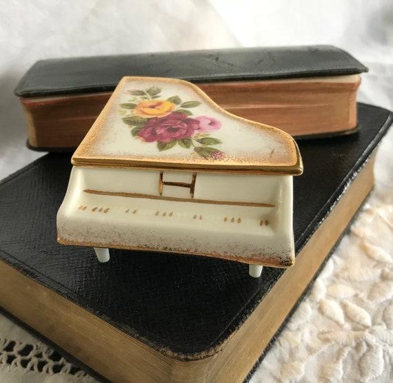 Miniature Grand Piano Trinket Box. Trinket Holder.