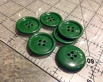 """Vintage Tree Green Cardigan Buttons 1"""" 4 hole buttons"""