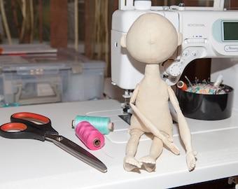 Cloth doll body, rag doll body, body for crafting, blank doll, stuffed doll body, premade doll