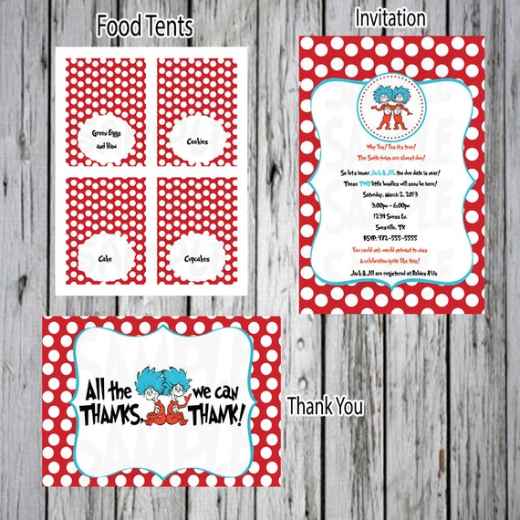Thing 1 Thing 2 Baby Shower Decorations  from i.etsystatic.com