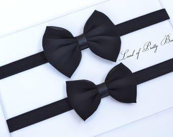 b29564777b62 Black Baby Headband Black Baby Hair Bow Baby Bow Headband Black Newborn  Headband Small Baby Bow Headband Black Headband Bow