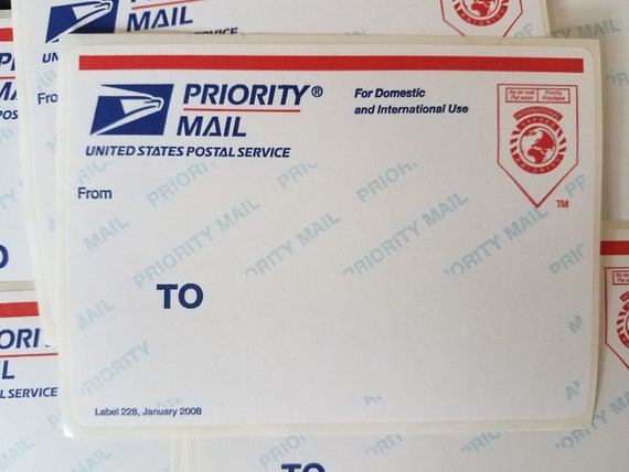 Usps priority mail label 228 March 2016