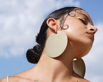 """Oversized Earrings. African Earrings, Geometric Earrings. Statement Earrings. Large Hoop Earrings. Laka Luka design """"Discos"""" earrings"""