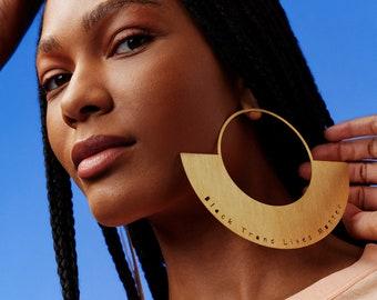 Honey Dijon Creator Collab - Black Trans Lives Matter Earrings, Honey Dijon Earrings, Statement Oversized Earrings, BTLM, 80s Style