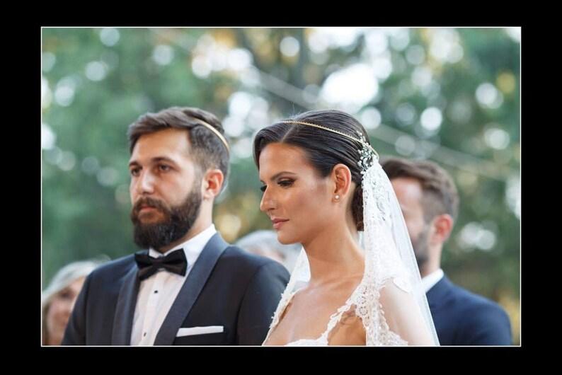 Skinny Stefana  Greek Crowns  Orthodox Greek Wedding Crowns  \u03a3\u03c4\u03b5\u03c6\u03b1\u03bd\u03b1 \u0393\u03b1\u03bc\u03bf\u03c5  Greek Tiaras  Wedding Tiaras  Ultra Thin  The Other Half