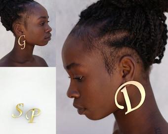 Monogram, Initial Earrings, Personalized Earrings, Custom initial personalized earring. Laka Luka design Monogram Earrings