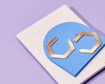 Honey Dijon Creator Collab - Honeycomb Earrings, Statement Earrings, Oversized Earrings, 80s Style, Geomatric Earrings,  LGBTQ pride
