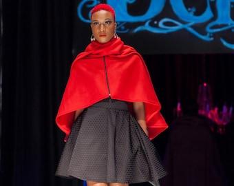 Red cape/coat/cloak