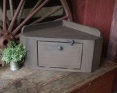 Countertop Corner Cabinet Corner Bread Box Barn Wood Finish Primitive Farmhouse Rustic Kitchen