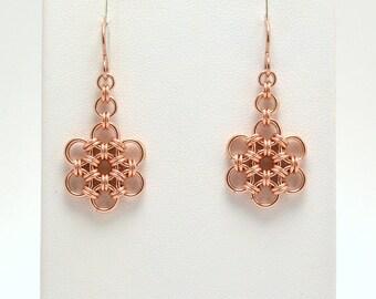Japanese Earrings in Rose Gold Fill