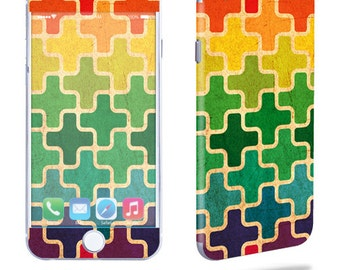 Skin Decal Wrap for Apple iPhone 7 7 Plus 6 6 Plus 5C 5/5S 4 iPod Touch 5G Touch 4G Vinyl Cover Sticker Skins Puzzle