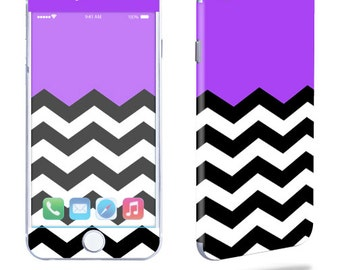 Skin Decal Wrap for Apple iPhone 7 7 Plus 6 6 Plus 5C 5/5S 4 iPod Touch 5G Touch 4G Vinyl Cover Sticker Skins Purple Chevron