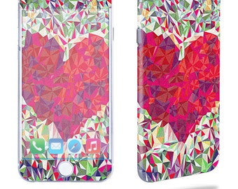 Skin Decal Wrap for Apple iPhone 7 7 Plus 6 6 Plus 5C 5/5S 4 iPod Touch 5G Touch 4G Vinyl Cover Sticker Skins Stained Heart