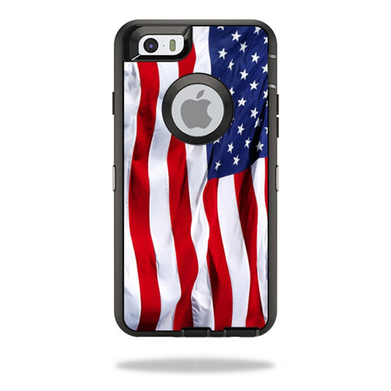 sports shoes a2122 5883c Skin Decal Wrap for OtterBox Defender/Commuter/Universe Apple iPhone 7 7+ 6  6+ 5C 5/5S Case Vinyl Cover Sticker Skins American Flag