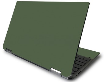 """MightySkins Solid Olive Skin Compatible with HP Spectre x360 13.3"""", 15"""",  Gem-Cut, Convertible (2016-2020) 3M Vinyl Decal Wrap"""