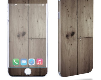 Skin Decal Wrap for Apple iPhone 7 7 Plus 6 6 Plus 5C 5/5S 4 iPod Touch 5G Touch 4G Vinyl Cover Sticker Skins Wooden