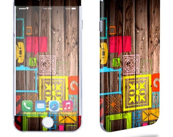 Skin Decal Wrap for Apple iPhone 7 7 Plus 6 6 Plus 5C 5/5S 4 iPod Touch 5G Touch 4G Vinyl Cover Sticker Skins Wood You