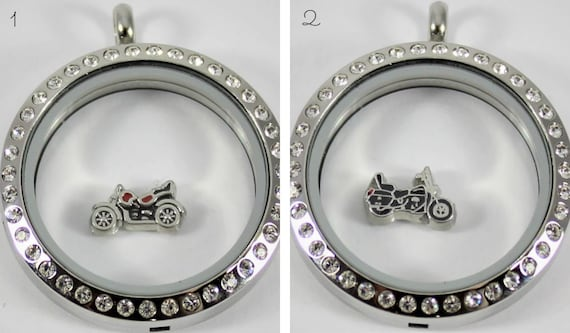Motorcycle Floating Charm for Glass Living Memory Locket