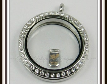 Mason Jar Floating Charm for Glass Locket / Floating Locket