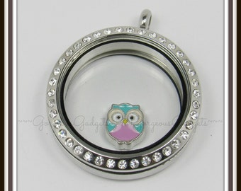 Owl Floating Charm for Glass Locket / Floating Locket