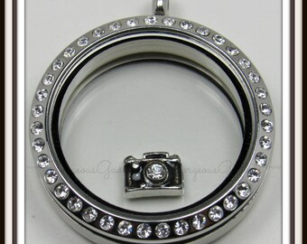 Camera Floating Charm for Glass Locket / Floating Locket