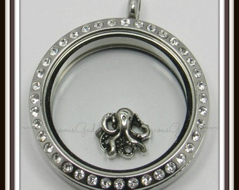 Octopus Floating Charm for Glass locket / Floating Locket / Memory Locket
